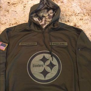 steelers olive hoodie